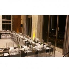 Diamond chair black parson table