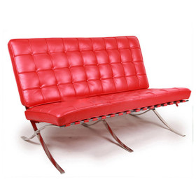 barcelona love seat red