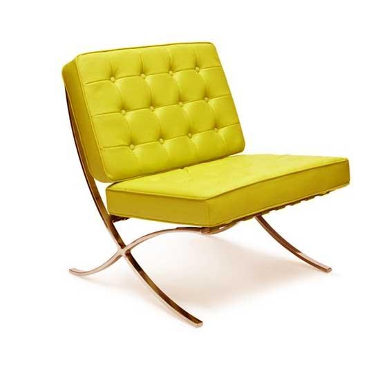 Barcelona Chair Yellow Bubble Miami