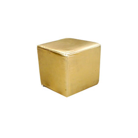 Cube Stool Gold Bubble Miami