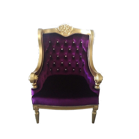 jules chair purple