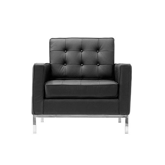 Flow armchair black
