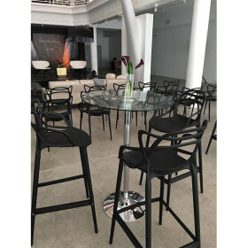 matrix black chair and barstool