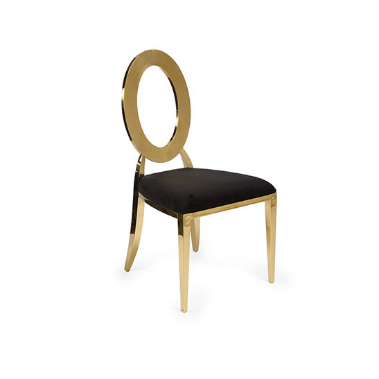 Oh Chair Gold Black Pad Bubble Miami