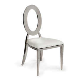 Oh! Chair Silver White Pad