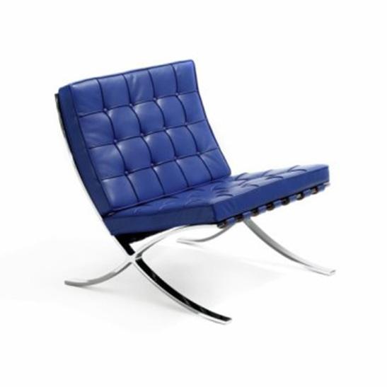 Barcelona chair blue