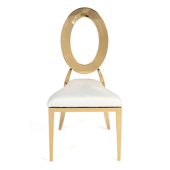 OH CHAIR GOLD white pad