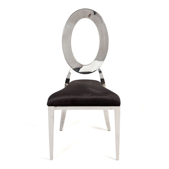 OH CHAIR SILVER black pad