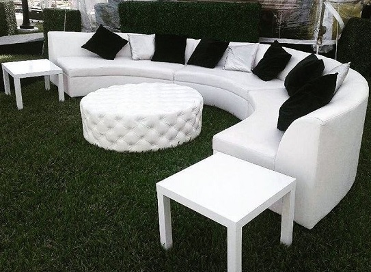 Curved Low Back Sofa Bubble Miami